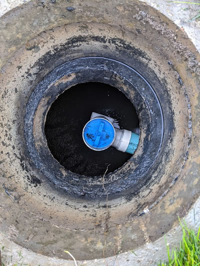 Septic tank Filter Installed In tank